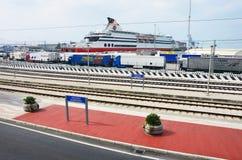 Ancona harbor Stock Image