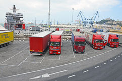 Ancona harbor cargo Royalty Free Stock Image