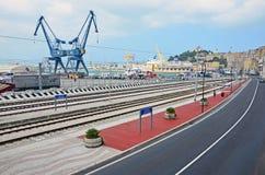 Ancona harbor cranes Royalty Free Stock Photography