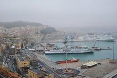 Ancona harbor, ITALY. Royalty Free Stock Photography