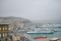 Ancona harbor, ITALY. Stock Photo