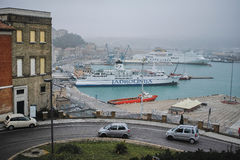 Ancona harbor, ITALY. Royalty Free Stock Image