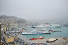 Ancona harbor, ITALY. Royalty Free Stock Photos