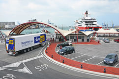 Ancona harbor work Royalty Free Stock Photography