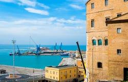 Ancona harbour Fotografia Stock Libera da Diritti
