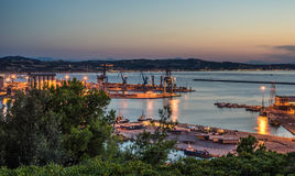 Ancona harbour. Harbour of Ancona in the evening, Italy Stock Image