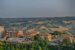 Ancona, Italië: stedelijke architectuur De havenstad van Ancona wordt gevestigd langs de oostelijke kusten van de Adriatische kus Stock Foto's