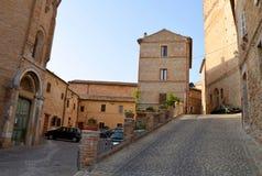 Ancona, Italië: stedelijke architectuur De havenstad van Ancona wordt gevestigd langs de oostelijke kusten van de Adriatische kus Royalty-vrije Stock Fotografie
