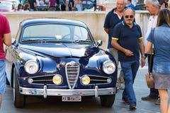 An Alfa Romeo 1900 C Super Sprint (1955).at a vintage cars exhibition in Ancona, Italy. Ancona , Italy - September 23th, 2018 : An Alfa Romeo 1900 C Super Sprint royalty free stock photo