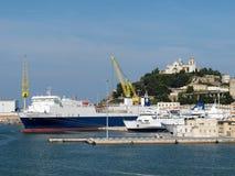 Ancona mettent en communication en Italie Photo stock