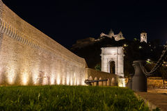 Ancona monument night view, Arc of Traiano Stock Photography