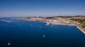 Ancona from north side. View of Ancona city from a drone from the north side royalty free stock photography