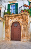 Ancona Palace. Martina Franca. Puglia. Italy. Royalty Free Stock Photos