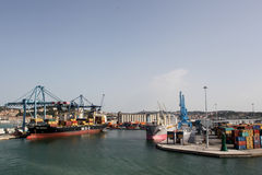 Ancona port in Italy. The commercial terminal in the port of Ancona. Ancona is important port city on the coast of the Adriatic Sea Stock Images