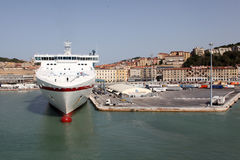 Ancona port in Italy Stock Photo