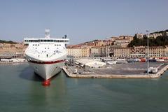 Ancona port in Italy Stock Photo