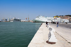 Ancona port in Italy. Ancona is important port city on the coast of the Adriatic Sea Royalty Free Stock Images