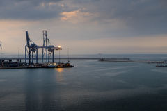 Ancona port in Italy Stock Photography