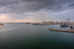 Ancona port in Italy Stock Images