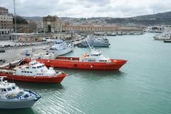 Ancona port in Italy Stock Image