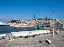 Ancona schließt in Italien an den Port an Stockfotos