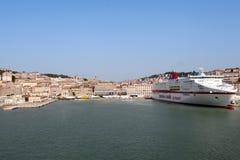 Ancona schließt in Italien an den Port an Lizenzfreies Stockbild