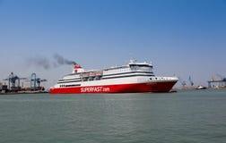 Ancona schließt in Italien an den Port an Stockbild