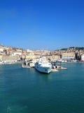 Ancona schließt in Italien an den Port an Stockfotografie