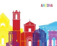 Ancona skyline pop Royalty Free Stock Images