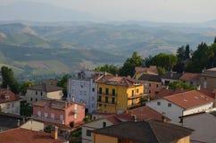 Ancona, Włochy: miastowa architektura Biedne miasto Ancona lokalizuje wzdłuż wschodnich brzeg Adriatycki wybrzeże Obrazy Stock