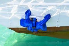 Ancora blu Fotografia Stock