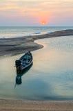 Ancora a coda lunga della colata della barca Fotografia Stock Libera da Diritti