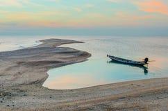 Ancora a coda lunga della colata della barca Fotografie Stock Libere da Diritti