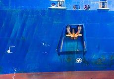 Ancora di una nave sul mare Immagini Stock Libere da Diritti