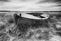 Ancora e barca Fotografia Stock Libera da Diritti