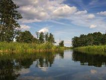 Ancora fiume Fotografia Stock Libera da Diritti