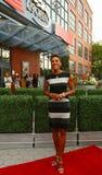 Ancora Robin Roberts della TV al tappeto rosso prima dell'US Open una cerimonia di 2013 serate di inaugurazione al centro nazional Fotografie Stock Libere da Diritti