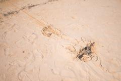 Ancora sulla sabbia Immagine Stock