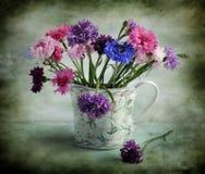 Ancora vita con i corn-flowers varicoloured Fotografia Stock