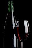 Ancora vita con i vini rossi Fotografie Stock Libere da Diritti