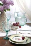 Ancora vita con il lillà & l'uva Fotografia Stock