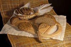 Ancora vita con il pane di segale Fotografia Stock
