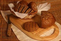 Ancora vita con il pane di segale Immagini Stock Libere da Diritti