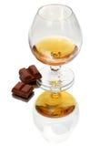 Ancora vita con il vetro di brandy Fotografia Stock Libera da Diritti