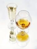 Ancora vita con il vetro di brandy Fotografia Stock