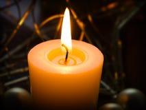 Ancora vita con la candela fotografie stock