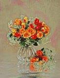 Ancora-vita con le rose Fotografie Stock