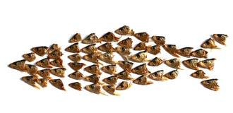 Ancora-vita con le teste dei pesci Immagine Stock