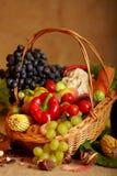 Ancora vita con le verdure e le frutta di autunno Fotografie Stock Libere da Diritti
