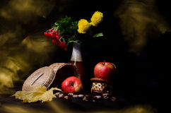 Ancora vita con le verdure e le frutta di autunno Fotografie Stock